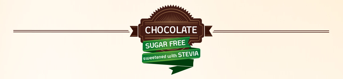 Chocolate candies sweetened with stevia